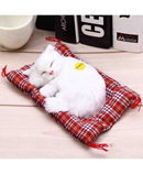 White Sleeping Cat Simulation Doll Plush Stuffed Toy